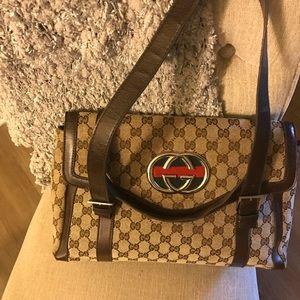Gucci print handbag